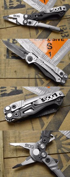 SOG RC1001-CP Reactor Specialty Knives and Multi Tool, 10 Tools