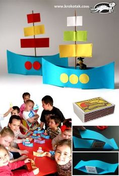 A summer themed ship 🚢 craft idea Creative Activities, Summer Activities, Preschool Activities, Children Activities, Boat Crafts, Summer Crafts, Preschool Crafts, Crafts For Kids, Transportation Crafts