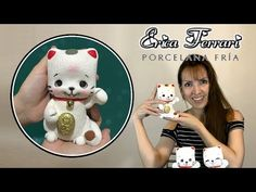 Muñeco Gato de Fortuna y Suerte Porcelain Clay, Cold Porcelain, Maneki Neko, Ferrari, Diy Paso A Paso, Fondant Decorations, Clay Animals, Pasta Flexible, Diy Tutorial