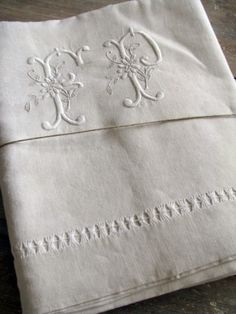 french linens monogrammed | french linen monogrammed sheet