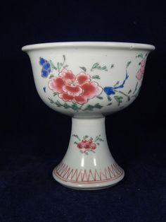 A Chinese porcelain famille rose wine cup 18th century h 12 cm