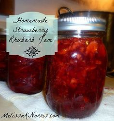 Homemade Strawberry Rhubarb Jam www.melissaknorris.com