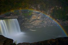 The moonbow at Cumberland Falls, Kentucky.  One of the few in the world.  It's worth the trip.