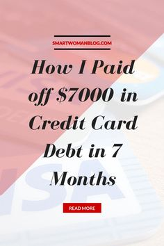 How I paid off my credit card debt while going to school and working a part-time job! // $mart Woman