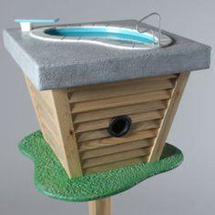 """Outdoor bird """"bath"""" too cute! COMO HACER UN MULTI- BIBERÓN. Ante todo, debemos tener en cuenta al elaborar el biberón,que : - Cuidado con el pegamento que se utiliza ..."""