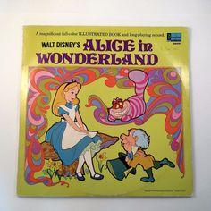 Walt Disney's Alice in Wonderland 1969 LP and Book Disneyland Records The Story…
