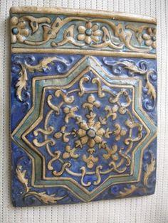 Persian Islamic Antique Handmade Ceramic Tile | eBay