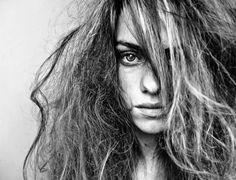 THE EYE. #photo #photography #art #woman #face #eyes #blackandwhite #hair #portrait #foto #fotografia