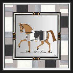 Carrousel rayures grises
