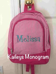 A personal favorite from my Etsy shop https://www.etsy.com/listing/238642511/backpack-book-bag-monogram-backpack