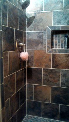 Beautiful shower tiles.