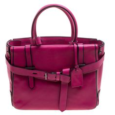 REED KRAKOFF MAGENTA LEATHER BOXER TOTE. #reedkrakoff #bags