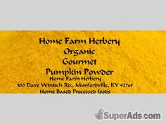 Pumpkin Powder, Order now, FREE shipping in New York NY - Free New York SuperAds