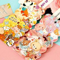 50 Pieces / Pack Scrapbook Minios Kawaii Fresh Style Cartoon Animal Self-adhesive Stickers Decoration Mobile Phone Gift K7546 #Affiliate