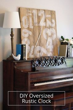 DIY Oversized Rustic