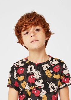 Camiseta mickey mouse - Niños | MANGO Kids España