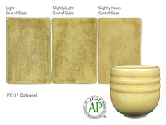 AMACO Potter's Choice commercial glaze. PC-31 Oatmeal.
