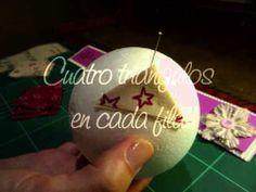 ▶ Tutorial: Bola de Navidad forrada de tela - YouTube