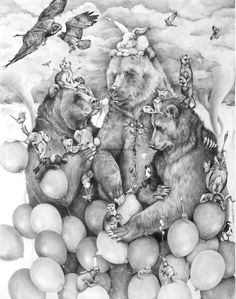 Adonna Khare, an artist based-in Burbank California, creates pencil drawings in whimsical yet stunningly artistic and beautiful artwork. Animal Drawings, Pencil Drawings, Art Drawings, Art And Illustration, Illustration Animals, Animal Illustrations, Painting & Drawing, Watercolor Paintings, Ap Art