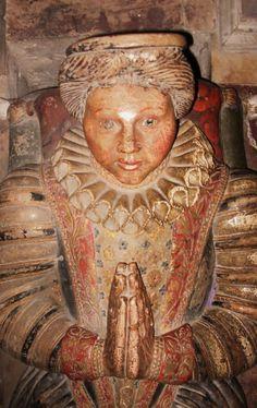 1596 Tomb of Richard Herbert and his wife Magdalena of Montgomery Castle and St Nicholas' Parish Church, Montgomery, Shropshire. http://3.bp.blogspot.com/_yhGX8VKD_a4/TO6xX2NPVTI/AAAAAAAAAf4/caVL5pK1sAM/s1600/Monty%2B005.JPG