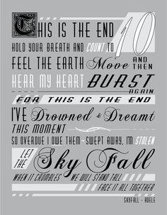ADELE SKYFALL Lyric Posters on Behance
