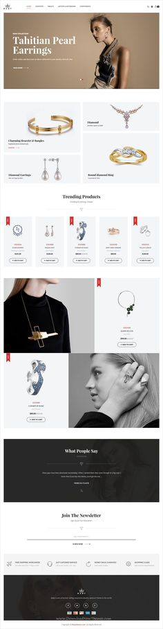 Buy Ruby - Jewelry Store Responsive Opencart Theme by posthemes on ThemeForest. Ruby Responsive OpenCart theme with simple and cool features which specially designed for jewelry, jewellery, fashio. Ruby Jewelry, Dainty Jewelry, Tiffany Jewelry, Ecommerce Web Design, Ecommerce Websites, Website Logo, Jewelry Stores, Jewelry Websites, Ui Web