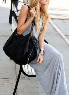 #summer #fashion / casual gray dress