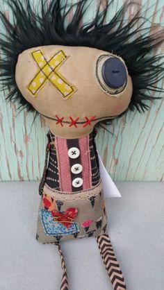Etsy.com. sew zany Zombie Dolls, Voodoo Dolls, Ugly Dolls, Creepy Dolls, Sock Dolls, Doll Toys, Stitch Doll, Monster Dolls, Doll Quilt