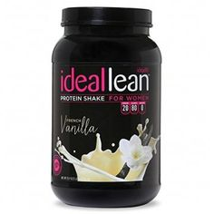 IdealLean French Vanilla Protein Powder has 100 deliciously smooth calories and 20 grams of whey protein isolate, so you can fuel your body right! Try this protein powder formulated specifically for women today! Whey Protein For Women, Protein Shakes For Women, Protein Powder For Women, Best Whey Protein, Best Protein Powder, Whey Protein Isolate, Protein Shake Recipes, Vanilla Protein Powder, Protein Snacks