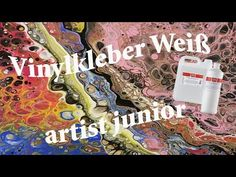 Pouring medium yourself – glue as a cheap alternative? Alternative Metal, Spray Paint Art, Diy Jewelry Making, Acrylic Pouring, Adhesive Vinyl, Art Projects, Neon Signs, Youtube, Abstract