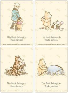 Classic Winnie the Pooh & Friends Book Plate Labels - Checks In The Mail