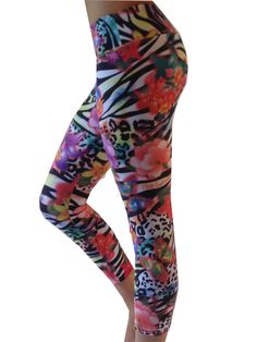 Yoga Pants for Women for Womens Capri Leggings Colorful Trippy Art Pockets and Tummy Control Gym Tights