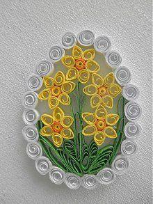 Dekorácie - Veľkonočné vajíčko - narcis - 3745826_