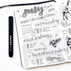 Monochrome spread inspired by @chasingmirages stickers .... You can use 'cllala10' for 10% off your purchase at @chasingmirages ..... I also uploaded a 'letter with me' video! Link is on my bio ..... & rip at my lettering... it's so bad