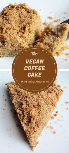 If you're in need of a dairy-free coffee cake recipe, look no further than this one, from The Conscientious Eater.
