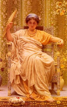 Albert Joseph Moore (1841-1893) A Reverie Oil on canvas 1892 74.8 x 116.7 cm (29.45 x 3 9.94)