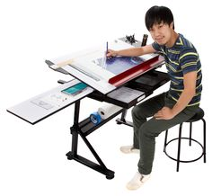 I love drawing desks, but I need one that has some storage ...