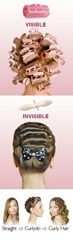 Invisible Hair Curlers! Heatless care for your hair. http://icurlers.com