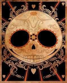 Jack Skellington inspired Sugar Skull