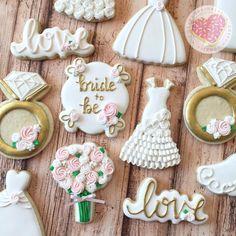 """""""Bride To Be"""" Wedding Sugar Cookies TheIcedSugarCookie.com I Heart Sprinkles Cookies"""