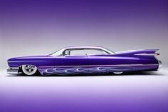 59 Cadillac....in love w/ this car!!! <3 the color, model/make, and everything!!! Except I wish they hadn't lowered it :(