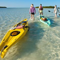 Find Canoeing and Kyaking on The Florida Keys Map