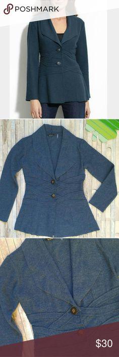 "°Nie+Zoe blue boiled wool jacket- sz M, EUC °Nie+Zoe (Nordstrom) blue boiled wool jacket . °Size: M, may fit S . °Measurements: 27"" L 18 1/2"" across chest . °Fabric: Wool . °Condition: EUC, Like new . Nie + Zoe Jackets & Coats Blazers"