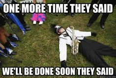 """ get off the field no one lays or sits on the field!""25 Hilarious Marching Band Memes 
