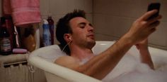 Chris Evans - Selfie in a bubble bath. 28 Perfect GIFs Of Chris Evans To Get You Through The Day!