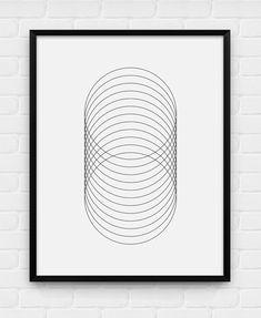 Geometric Circles - Printable Poster - Digital Art, Download and Print JPG on Etsy, $5.93