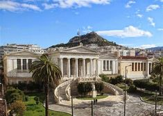 National Library of Greece Verge, Athens Greece, Places To Go, Around The Worlds, Public, Europe, Mansions, House Styles, Building