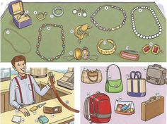 Jewellery and accessories vocabulary in PDF