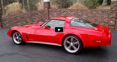 A high dollar build like this Torch Red 1979 Corvette combining a breathtaking look and high performance drivetrain is true show stopper. Check it out! Corvette C3, Chevrolet Corvette, Chevy, American Sports, American Muscle Cars, Cheap Sports Cars, Cheap Cars, New Acura Nsx, Crate Motors
