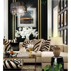 Irafra Top Home Sets for 2013 Home Living Room, Living Room Designs, Living Room Decor, Zebra Living Room, Zebra Decor, African Home Decor, Style Deco, Home And Deco, Living Room Inspiration